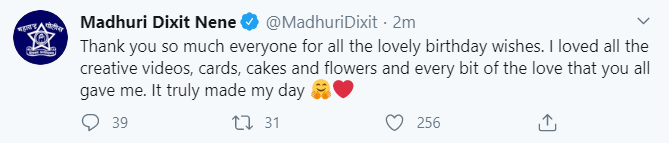 'Made my day': Madhuri Dixit as she thanks fans for birthday wishes