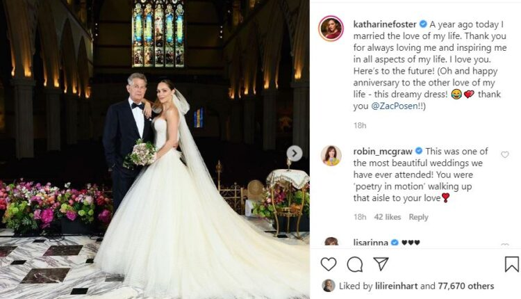 Katharine McPhee, David Foster gush over each other on their first wedding anniversary